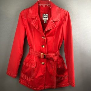 Old Navy Red HOT Trench coat. SZ SM